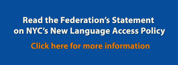 AAF's Statement on NYC's New Language Access Policy Banner image